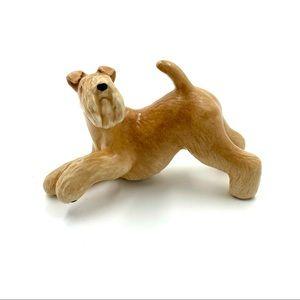 Vintage Lakeland Terrier Playing Dog Figurine